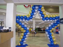blue and gold balloon arch star jasmineshower pinterest gold