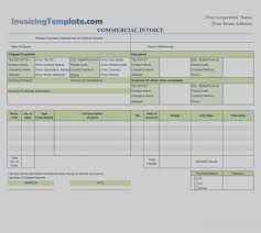commercial invoices for exporting templates images of sle commercial invoice for export free template best