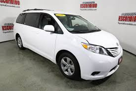 pre owned 2016 toyota sienna le mini van passenger in escondido