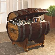 whiskey barrel table for sale reclaimed tequila barrel ice chest and stand large wine enthusiast