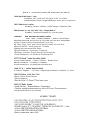 Music Producer Resume Examples by Music Producer Resume Template Examples