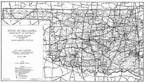 Highway Map Usa by Oklahama Highway Map Oklahoma Usa U2022 Mappery