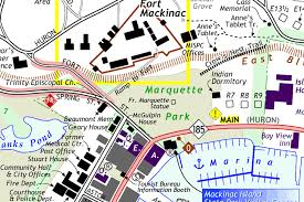 map of mackinac island mackinac island map
