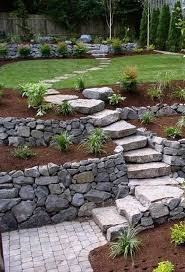 Backyard Hill Landscaping Ideas Best 25 Landscaping A Hill Ideas On Pinterest Sloped Yard