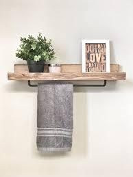 Shelves For Towels In Bathrooms Bathroom Shelf With Towel Bar Bathrooms