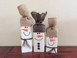 wooden snowman set of 3 wooden snowmen wood snowman rustic snowman
