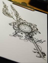 sand clock tattoo designs key and clock tattoos google search tattoos pinterest