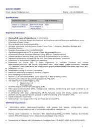 Sap Fico Sample Resume 3 Years Experience by Resume Quaish Abuzer
