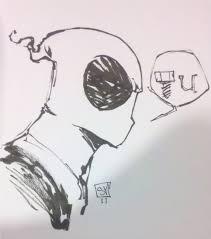 deadpool head sketch by skottie young in jason wood u0027s commissions