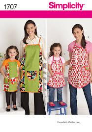 simplicity 1707 apron crafts girls kids women u0027s juniors misses