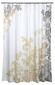 Shower Curtain Contemporary White Linen Curtains 108 Inches Soft Gold Faux Organza 108 Inch