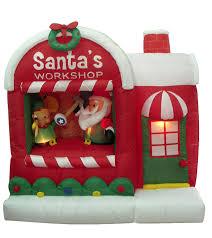 amazon com 5 foot christmas inflatable santa claus workshop yard