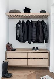 Coat Storage Ideas Simple Entryway With Wood Furniture And Beautiful Shoe And Coat