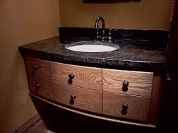 excellent black granite with six drawers teak wood materials at