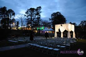 wedding venues in fayetteville nc beautiful ceremony trellis decoration and lighting at vizcaya