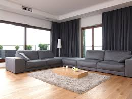 interesting design ideas of living room theme with grey color