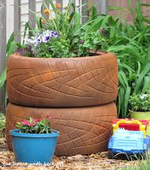 old tire flower planter ideas