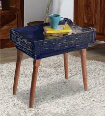 end tables and ls buy nautical end table in blue distress finish by desi jugaad online