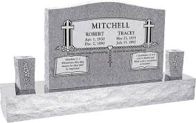 upright headstones 36 x 6 x 24 serp top upright headstone polished front and back