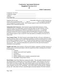 subcontracting agreement template 10 subcontractor agreement