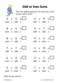 odd or even sums 2nd 3rd grade worksheet lesson planet