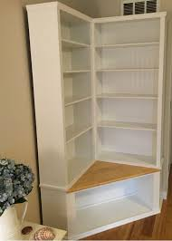 Corner Bookcase Custom Made Shabby Chic Corner Bookcase With Seat By The Crabby