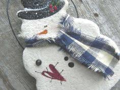 snowman salt dough ornament decoration favor food