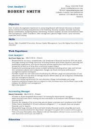 Compliance Analyst Resume Sample by Cost Analyst Resume Samples Qwikresume
