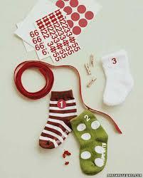 baby sock advent calendar martha stewart