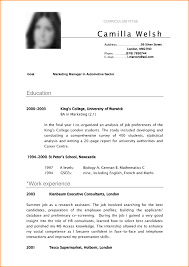 Vita Resume Example by Resume Template 8 Sample Of Curriculum Vitae For Job Application