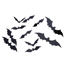 aliexpress com buy 12pcs diy pvc black bat wall sticker decal