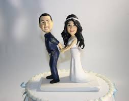 wedding cake toppers police custom handmade police wedding cake