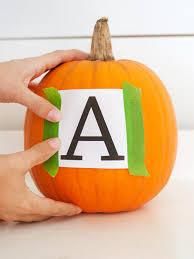 how to make a monogrammed pumpkin hgtv