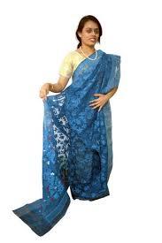 dhakai jamdani sarees blue dhakai jamdani saree in durgapur west bengal ethnic arts