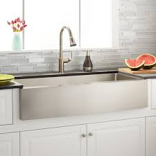 42 inch farmhouse sink 42 fournier stainless steel farmhouse sink curved apron kitchen