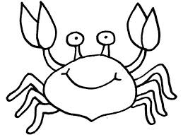 free printable crab coloring pages kids