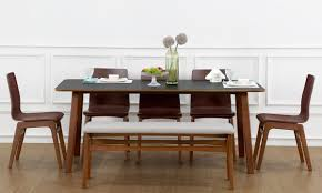 buy ava 6 seater dining table online in india livspace com
