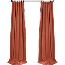 Orange Silk Drapes 108