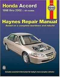2004 honda accord owners manual pdf honda accord 1998 2002 haynes repair manuals haynes