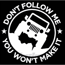 jeep amc logo jeep parts buy just jeeps sticker don u0027t follow me you won u0027t