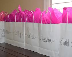 personalized party favor bags bridesmaid gift bag etsy