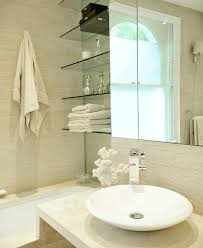 white bathroom shelves design ideas