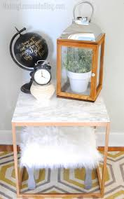 how to reupholster an ottoman with faux fur making lemonade