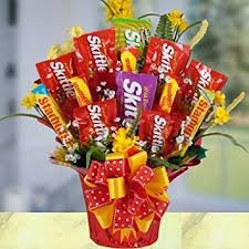 candy gift basket succulent skittles bouquet beautiful chocolate and