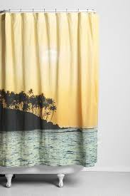 Tropical Beach Shower Curtains by Curtains Tropical Beach Shower Curtains Under The Sea Bathroom