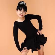 blue rose yellow black green spandex latin dance dress for 4 13y