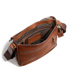 Leather Map Coach Bleecker Map Bag In Leather In Brown For Men Lyst