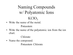 poly atomic ions chart ions worksheet with answers
