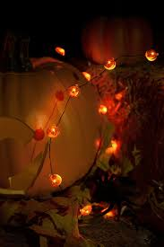 led pumpkin battery operated mini string lights