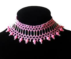 beaded choker necklace images Free pattern for choker necklace jenner beads magic jpg
